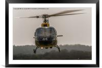British Army Helicopter, Framed Mounted Print