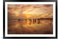 Evolution of a beach, Framed Mounted Print