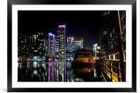 South Quay by Night, Framed Mounted Print