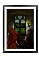 Let down your long hair!, Framed Mounted Print