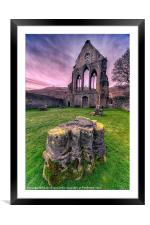Old Abbey, Framed Mounted Print