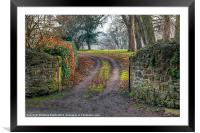 Gateway to Autumn, Framed Mounted Print