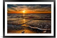 The Sunset, Framed Mounted Print