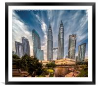 Twin Towers KL, Framed Mounted Print