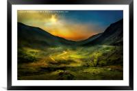Valley of Shadows, Framed Mounted Print