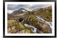 Ogwen Bridge Winter, Framed Mounted Print