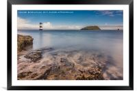 Puffin Island Lighthouse , Framed Mounted Print