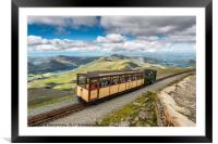 Mountain Train, Framed Mounted Print