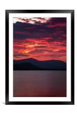 Sunset Thailand, Framed Mounted Print