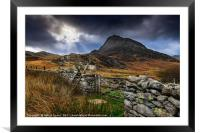 East Face Tryfan Snowdonia, Framed Mounted Print