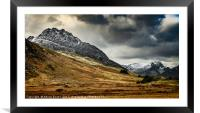 Mighty Tryfan Mountain, Framed Mounted Print