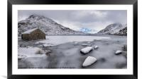 Icy Shore In Winter, Framed Mounted Print