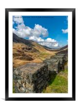 Ffrancon Pass, Snowdonia, Framed Mounted Print