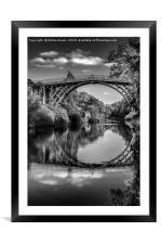 Iron Bridge Shropshire , Framed Mounted Print