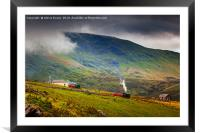 Steam Trains To The Summit, Framed Mounted Print