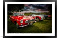 Volvo P1800 Classic Car, Framed Mounted Print
