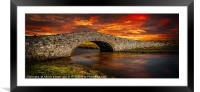 Aberffraw Bridge Sunset, Framed Mounted Print