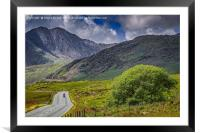 Biker in Snowdonia Wales, Framed Mounted Print