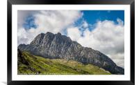 Tryfan mountain East Face Snowdonia, Framed Mounted Print