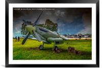 Spitfire Display, Framed Mounted Print