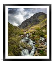 Autumn at Tryfan and Ogwen River, Framed Mounted Print