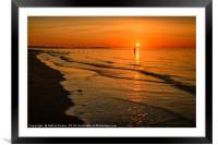 Beach Sunset Wales, Framed Mounted Print