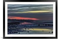 Last embers of the sunset, Framed Mounted Print