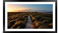 Holme next the sea dunes, Framed Mounted Print