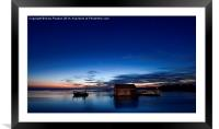 First light - early morning at Thornham, Framed Mounted Print