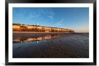 Reflections on Hunstanton beach, Framed Mounted Print
