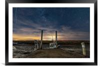 Moored under the stars at Brancaster Staithe , Framed Mounted Print