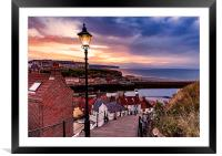 Whitby By Lamplight, Framed Mounted Print