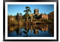 Hereford Cathedral and River Wye, Framed Mounted Print