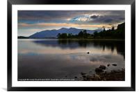 Skiddaw and Derwentwater from Kettlewell, Framed Mounted Print