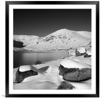 Kentmere in white, Framed Mounted Print