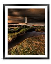 New Brighton lighthouse, Framed Mounted Print
