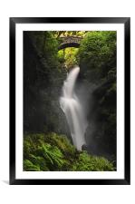 Aira force waterfall, Framed Mounted Print