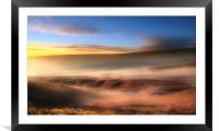 Moorland mists, Framed Mounted Print