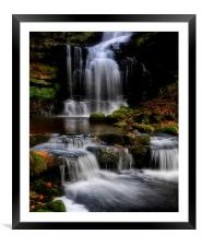 Scaleber force waterfalls , Framed Mounted Print