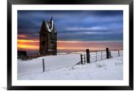 Pigeon tower , Framed Mounted Print