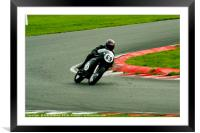 Racing bikes at Snetterton racetrack, Framed Mounted Print