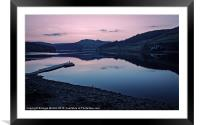 Ladybower Reservoir at Dusk, Framed Mounted Print