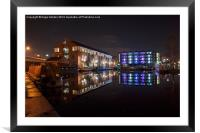 Sheffield Victoria Quays, Framed Mounted Print