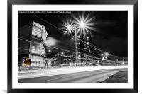 Moore Street Substation at Rush Hour, Framed Mounted Print