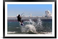 Kite surfing Cape Town, Framed Mounted Print