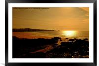 Fistral Beach Sunset, Framed Mounted Print