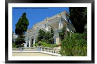 Achilleion Palace , Framed Mounted Print