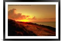 Newquay Sunset, Framed Mounted Print