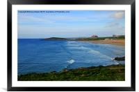 Fistral Beach , Framed Mounted Print