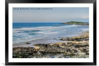 Fistral Beach Cornwall, Framed Mounted Print